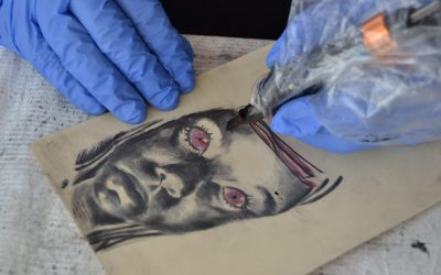 escuela de tatuajes terror